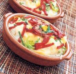 Salami- og potetform oppskrift.