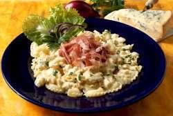Pasta med spekeskinke og gorgonsola oppskrift.