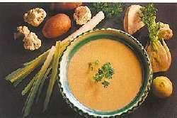Kremet grønnsaksuppe oppskrift.