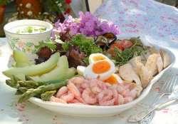 Prøv også Salatanretning med egg og kylling.