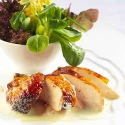 Helstekt kylling med urtesaus oppskrift.