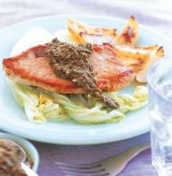 Prøv også Skinkebiff med  kinakål og pesto.