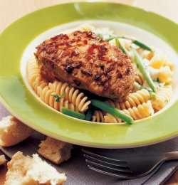 Skinkebiff med pasta oppskrift.