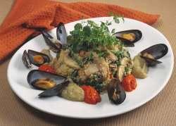 Couscous med roulli og auberginerøre oppskrift.