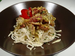 Prøv også Spaghetti alla Carbonara.