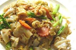 Thailandsk rørte stekte nudler oppskrift.