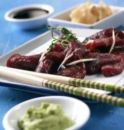 Prøv også Sashimi av hval.