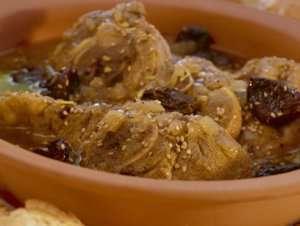 Lammetagine med frukt og honning - Lamtajine à là Fez oppskrift.
