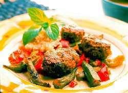 Prøv også Kjøttboller med frisk urtesmak på grønnsaksseng..