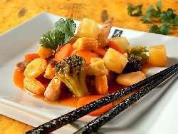 Prøv også Wok med svinekjøtt og sursøt saus.