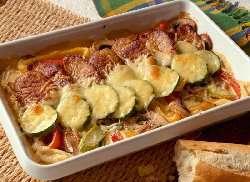 Prøv også Svinekjøtt og grønnsaker i form.
