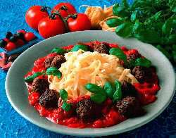 Try also Kjøttboller, pasta og tomatsaus.