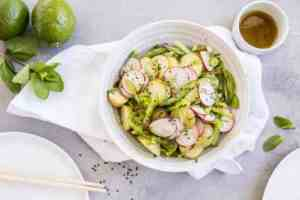 Asiatisk potetsalat oppskrift.