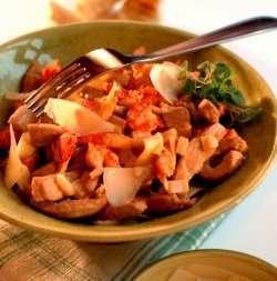 Prøv også Pasta med svinekjøtt og krepsehaler.