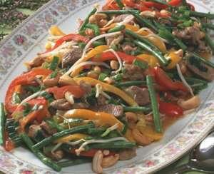 Fargerik wok med lam oppskrift.