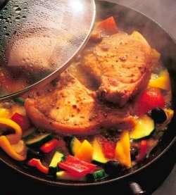 Braiserte koteletter med spansk vri oppskrift.