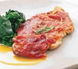 Prøv også Saltimbocca med smørstekt spinat.