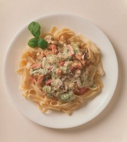 Prøv også Pasta med skinke og sopp.