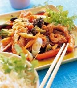 Svinekjøtt i wok 2 oppskrift.