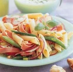 Skinke- og pastasalat 2 oppskrift.