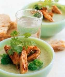 Prøv også Grønnsakssuppe med strimlet svinekjøtt.