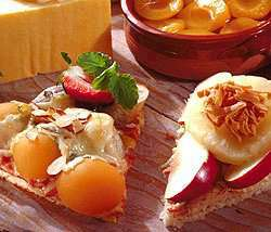 Bilde av Ferdigpizza med fruktfyll.