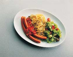 Prøv også Pølser, pasta og pizzaiola.