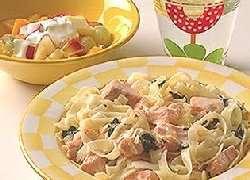 Fisk i pasta oppskrift.