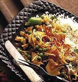 Eksotisk potetgryte med indisk vri oppskrift.