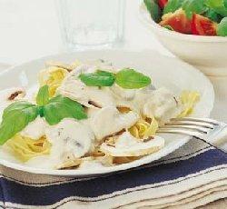 Prøv også Pasta med sjampinjongsaus.