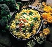 Tagliatelle med grønnsaker og ost oppskrift.