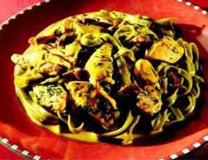 Prøv også Tagliatelle med kylling og blåskjell.