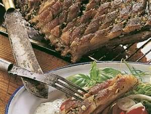 Lammeribbe med barbeque saus oppskrift.