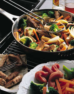 Stir fry med svinekjøtt oppskrift.