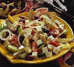 Prøv også Gresk salat med potetbåter.