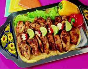 Prøv også Fajitas de pollo (tortillas med kyllingfyll).