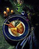 Innbakt kyllingfilet med madeirasaus oppskrift.