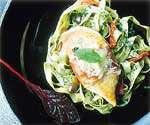 Prøv også Kyllingfilet med parmaskinke, parmesan og salvie.