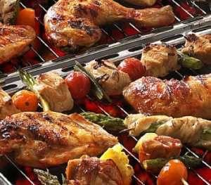 Kyllinglår med grillsaus oppskrift.