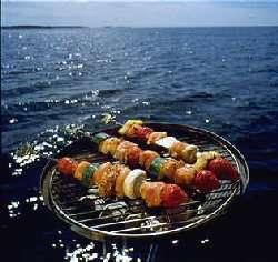 Sommerlige grillspyd oppskrift.