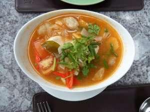 Prøv også Tom Yum Gai (thailandsk kyllingsuppe).