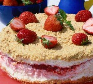 Prøv også Frossen jordbær-/ostekake.