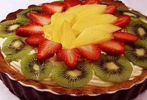 Prøv også Pai med vaniljekrem og bær.