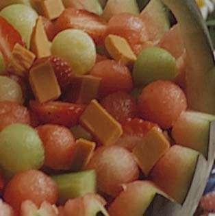 Eksotisk salat med brunost oppskrift.