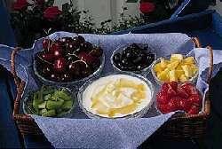 Frukt- og honningdipp oppskrift.