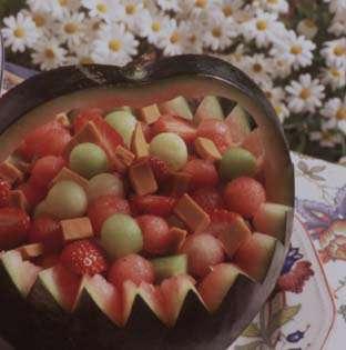 Melonsalat med brunost oppskrift.