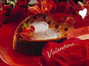 Valentinhjertesjokoladekake oppskrift.