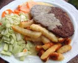 Prøv også Løvbiff med pommes frites.