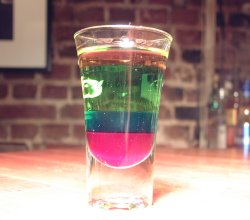 Rainbow shooter oppskrift.