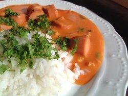 Toro tomatpølsegryte oppskrift.
